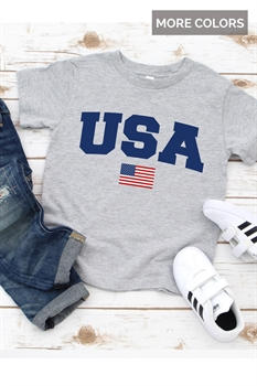 Picture of Youth USA + Flag Graphic Tee