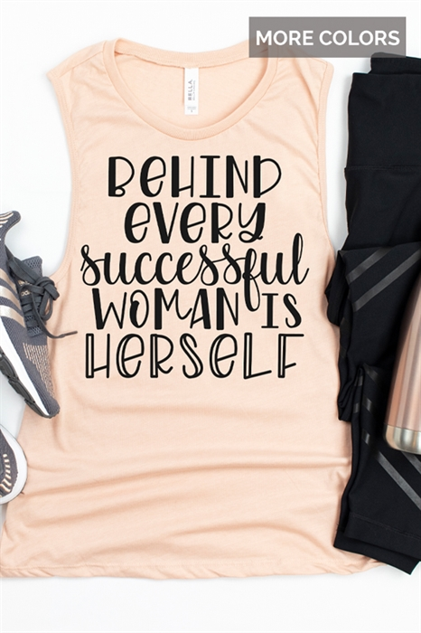 Picture of Successful Woman Graphic Muscle Tank