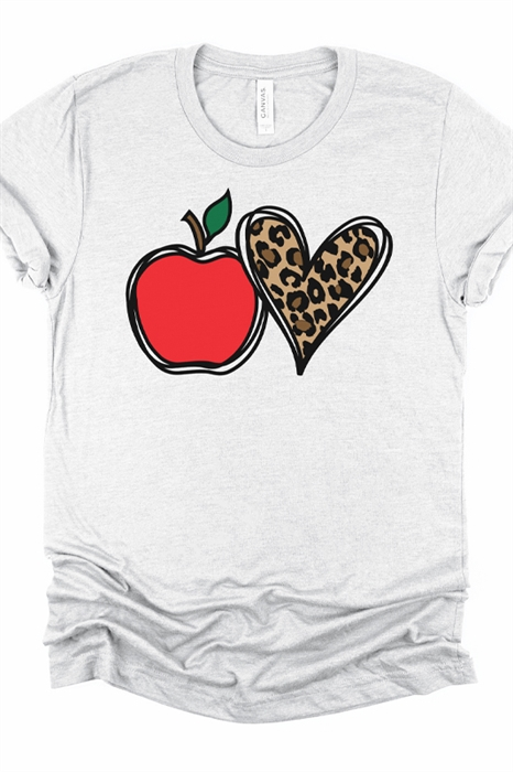 Picture of Teacher Leopard Love Graphic Tee