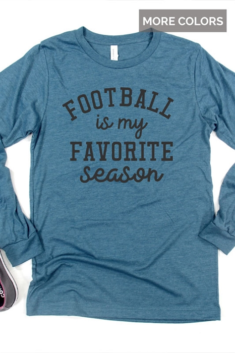 Picture of Football is My Favorite Season LS Graphic Tee