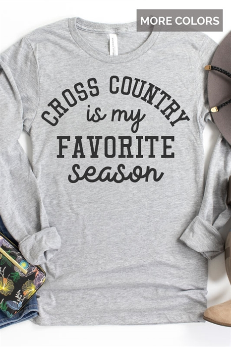 Picture of Cross Country Is My Favorite Season LS Graphic Tee