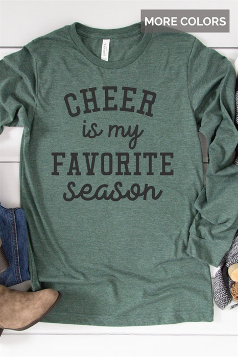 Picture of Cheer Is My Favorite Season LS Graphic Tee