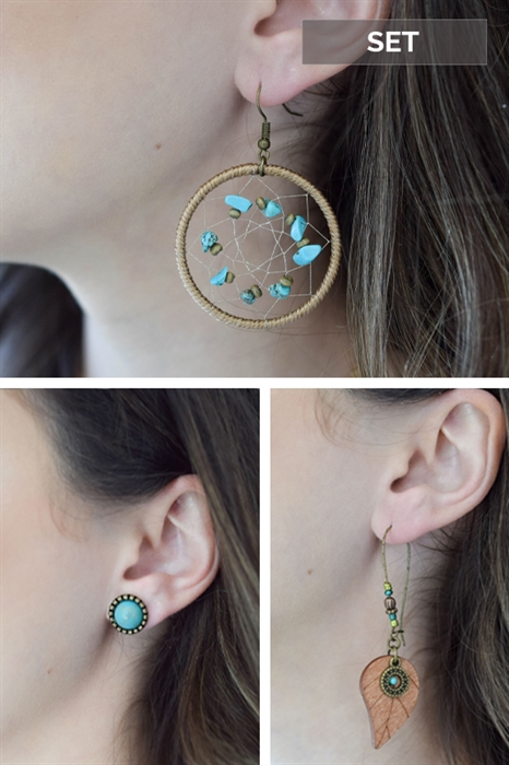 Picture of Free Spirit 3-Piece Earring Set