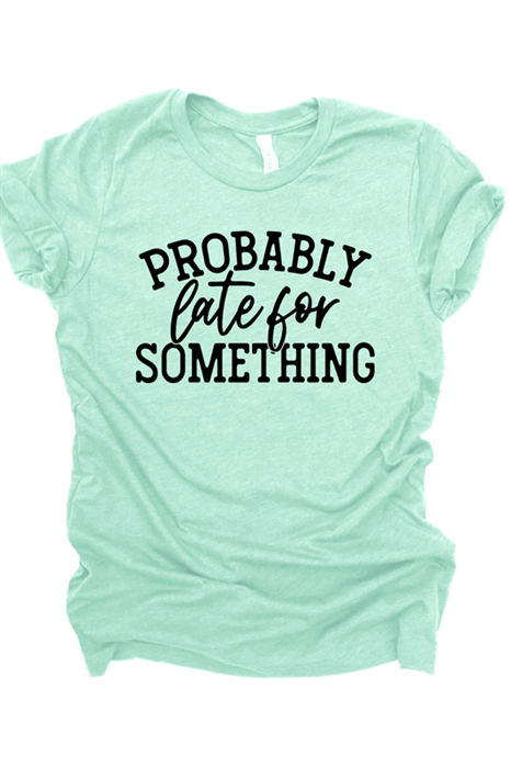 Picture of Probably Late For Something Graphic Tee