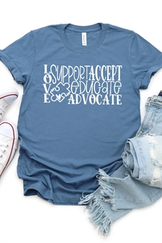 Picture of Love Support Accept Graphic Tee