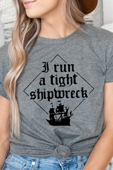 Picture of Tight Shipwreck Graphic Tee