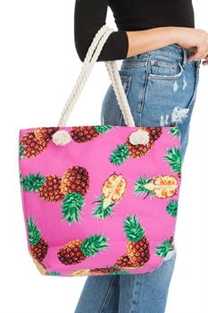 Picture of Tropical Pink Pineapple Tote