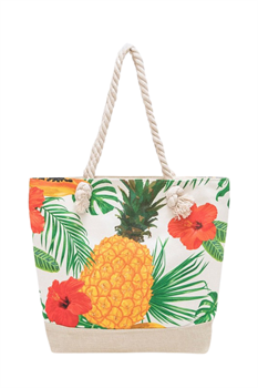 Picture of Tropical Floral Pineapple Tote