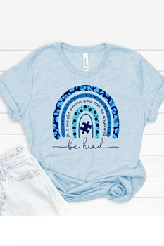 Picture of Autism Be Kind Rainbow Graphic Tee