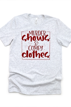 Picture of Murder Shows & Comfy Clothes Graphic Tee