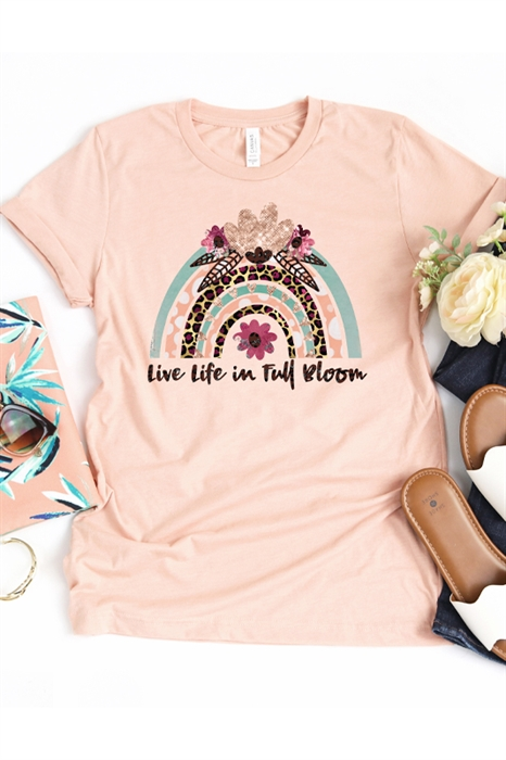 Picture of Live Life In Full Bloom Graphic Tee