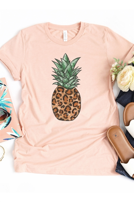 Picture of Leopard Pineapple Graphic Tee