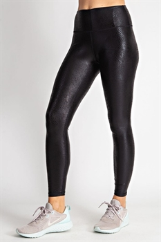 Picture of Ultra Soft Snakeskin Yoga Workout Leggings