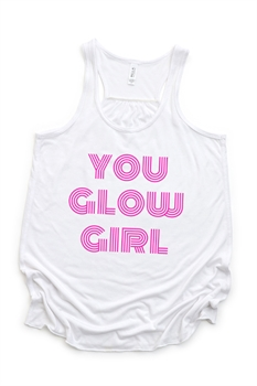 Picture of You Glow Girl Flowy Graphic Tank
