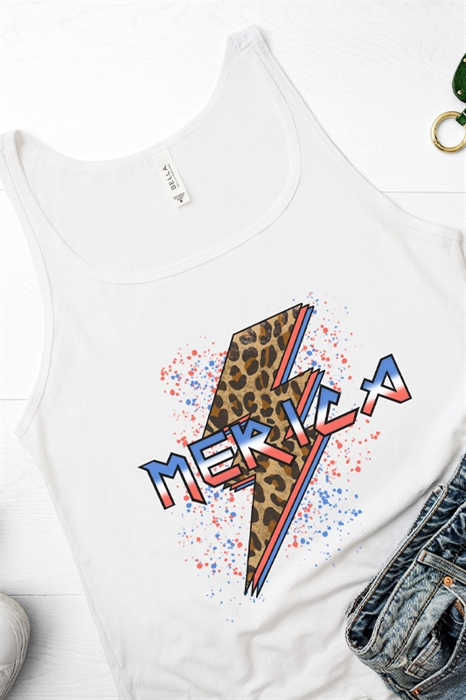 Picture of Merica Bolt Relaxed Graphic Tank