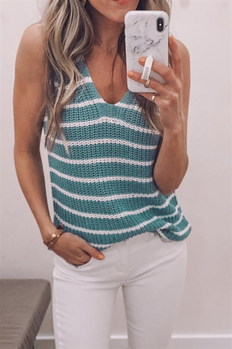 Picture of Knit Striped Tank