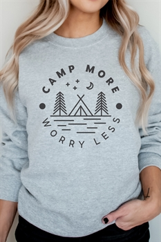 Picture of Camp More Worry Less Graphic Sweatshirt