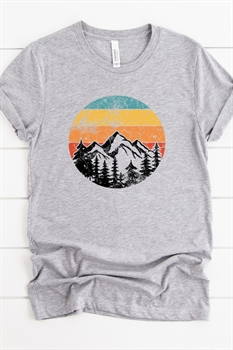 Picture of Mountains and Sunset Graphic Tee