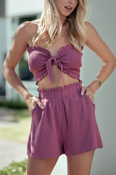 Picture of Smocked Tube Top & Shorts Set