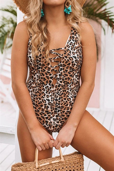 Picture of Deep V One Piece Swimsuit