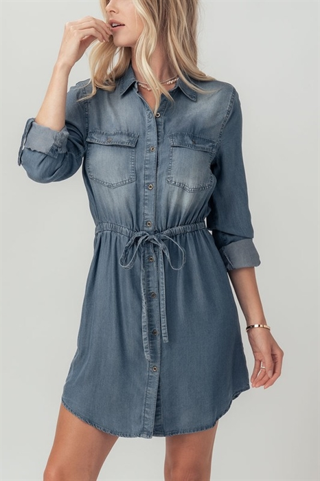 Picture of Button Up Chambray Dress