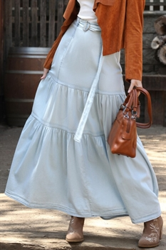 Picture of Chambray Maxi Skirt 🇺🇸
