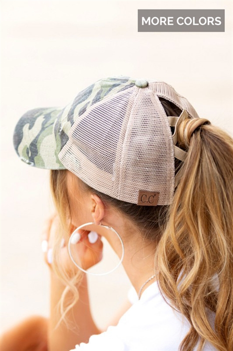 Picture of CC Criss Cross Pony Hat