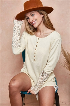 Picture of Kerri Lace Sleeve Top