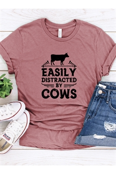 Picture of Easily Distracted By Cows Graphic Tee