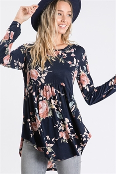 Picture of Carlotta Ruffled Floral Tunic
